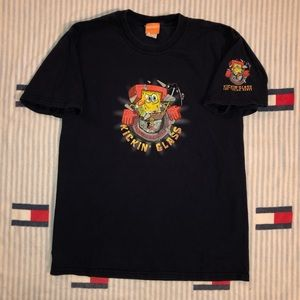 2003 spongebob short sleeve shirt